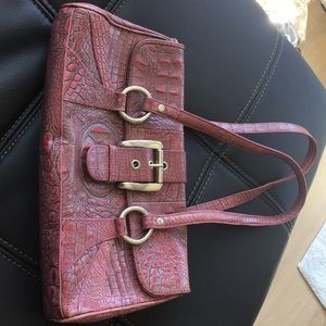 Isabella Fiore pink leather bag